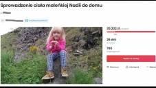 Babcia tragicznie zmarłej Nadii z Irlandii Północnej chce sprowadzić ciało dziecka do Polski - zorganizowała zbiórkę internetową