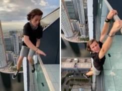 Nastolatek skoczył z balkonu wieżowca w Londynie i zawisł 180 metrów nad ziemią. [WIDEO tylko dla osób o mocnych nerwach]