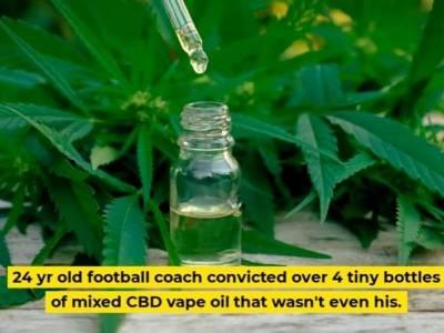 Brytyjczyk, uczący w Dubaju gry w piłkę nożną, skazany na 25 lat więzienia za posiadanie liquidu zawierającego CBD