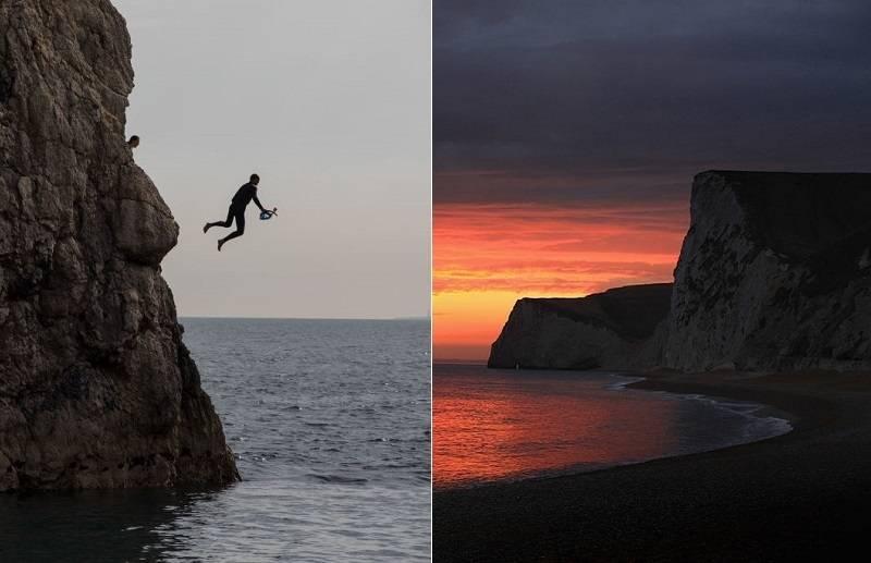 Tragedia w Durdle Door: Trzy osoby ciężko ranne po skoku z klifu do morza na plaży w Dorset [wideo]