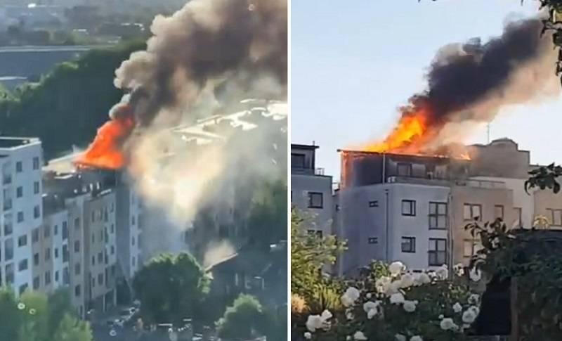 Pożar budynku mieszkalnego w Londynie! Na zdjęciach widać całe piętro w ogniu