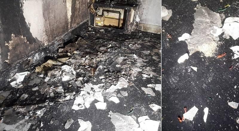 Mężczyzna przez przypadek spalił mieszkanie, gdy zamierzał oświadczyć się swojej dziewczynie