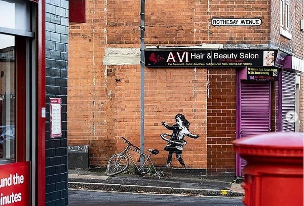 Czy to Banksy? Nowe graffiti w Nottingham wzbudziło wiele emocji
