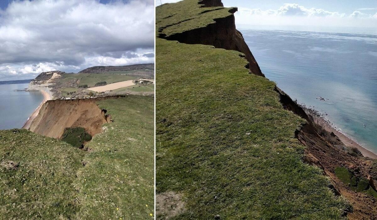 Zawalił się największy od 60 lat klif w Wielkiej Brytanii. 4 tys. ton osunęło się na Wybrzeżu Jurajskim [wideo]