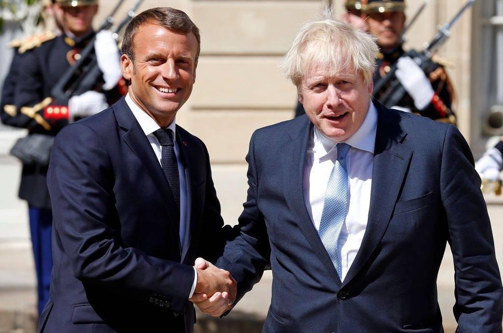 """Wielka Brytania pogodziła się Francją - Johnson i Macron zgodzili się że będą """"kontynuować ścisłą współpracę"""""""